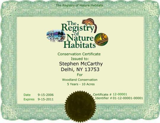 Conservation Credits
